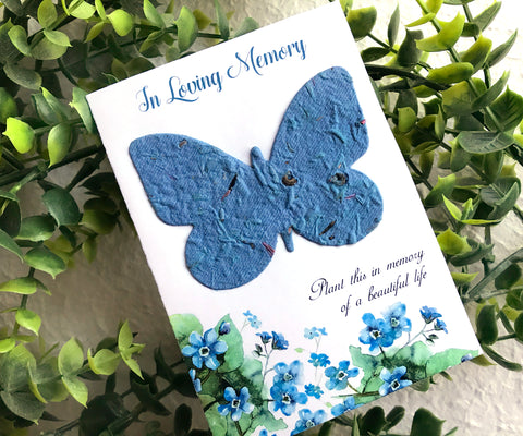 butterfly seed paper memorial card