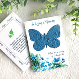 butterfly seed paper memorial card - in loving memory