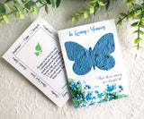 butterfly seed paper sympathy card