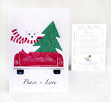 Recycled Ideas Favors winter greeting card with plantable paper