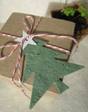 Recycled Ideas Favors plantable paper Christmas tree with gift box