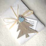 Recycled Ideas Favors plantable paper Christmas tree with tag