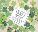 plantable paper Lucky in Love wedding favors card clovers seed paper