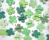 plantable clover confetti green colors recycled ideas paper