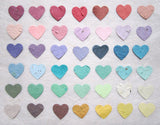 recycledideas seed paper hearts colors
