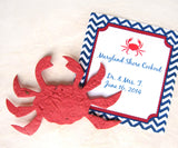 plantable paper crabs red seed paper crab