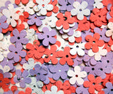 lilac and orange plantable paper daisy confetti