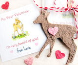 Plantable Seed Paper Deer - So Fawn'd of You - Set of 24 Valentines