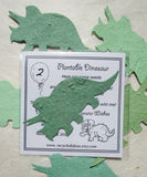 Recycled Ideas Favors seed paper dinosaurs with birthday cards