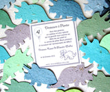 Recycled Ideas Favors French birthday card with plantable paper dinosaurs