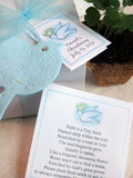 plantable seed paper baptism dove in blue