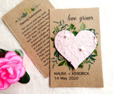 Seed Paper Love Grows Wedding Favors Beige Heart Recycled Ideas Kraft Paper