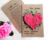 Seed Paper Love Grows Wedding Favors Red Heart Recycled Ideas Kraft Paper