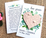 Seed Paper Love Grows Wedding Favors Beige Heart Recycled Ideas