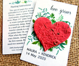 Seed Paper Love Grows Wedding Favors Red Heart Recycled Ideas