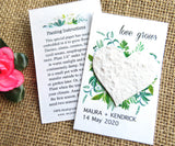 Seed Paper Love Grows Wedding Favors White Heart Recycled Ideas
