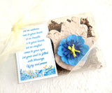 plantable seed paper beige hamsa with blue flower eye recycled ideas favors