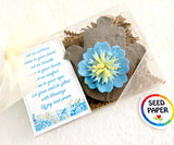 plantable seed paper brown hamsa with blue flower eye recycled ideas favors
