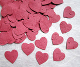 Recycled Ideas Favors plantable paper flower seed red hearts