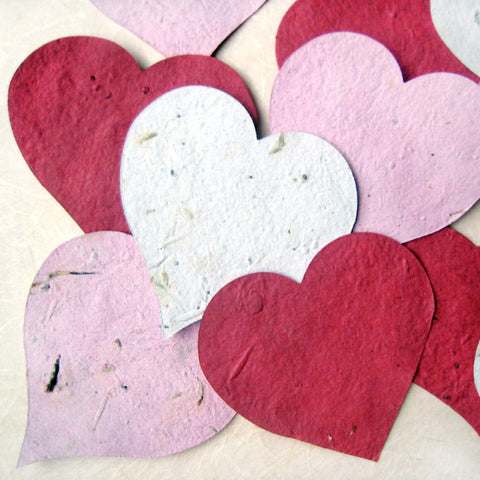 1,700 Plantable Paper Hearts Leaves with Herb Seeds