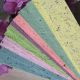 herb seed paper bookmarks - pastels