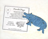 plantable hippo with birthday party card