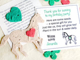 Recycled Ideas Favors plantable paper horse with card