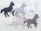 Recycled Ideas Favors plantable paper horses