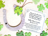 Recycled Ideas Favors plantable seed paper horseshoes, clovers and cards