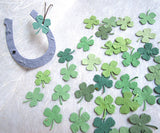 plantable paper clovers with lucky horseshoes flower seed wedding favors