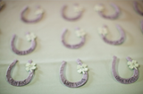 Recycled Ideas Favors plantable seed paper horseshoes and clovers