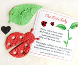 seed paper ladybug baby shower card