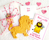 Recycled Ideas Favors plantable paper lions with card and gift bags