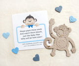 plantable paper monkey with baby shower card