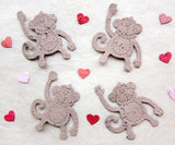 plantable paper monkeys with plantable hearts