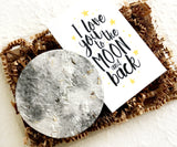 Love You to the Moon and Back - BFF Gift - First Anniversary Gift