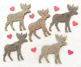 Recycled Ideas Favors plantable paper moose with confetti hearts