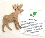 Recycled Ideas Favors plantable paper moose with card