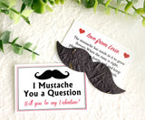 24 Flower Seed Mustache Valentines for Kids School Valentine's Day Party