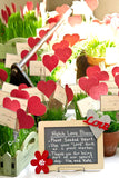 Recycled Ideas Favors plantable paper hearts and cards