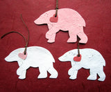 plantable paper polar bears with red hearts