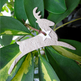 Recycled Ideas Favors plantable paper gray reindeer