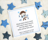 Recycled Ideas Favors example card - rock star monkey