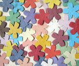 recycled ideas seed paper cherry blossoms - rainbow