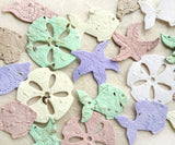 Recycled Ideas Favors plantable paper shells succulents colors periwinkle plantable shells and fish