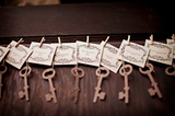 Recycled Ideas Favors plantable seed paper brown keys and tags
