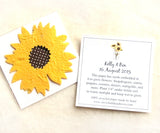 Recycled Ideas Favors plantable paper sunflowers with cards