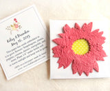 Recycled Ideas Favors plantable paper sunflower with cards