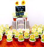 200 plantable paper sunflower favors with cards and bags