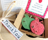 Recycled Ideas Favors plantable paper apples teach appreciation gift box favor